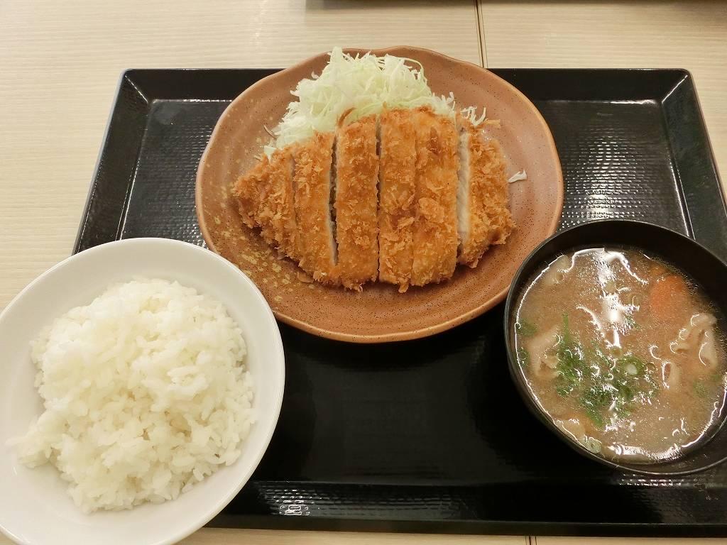 朝ロースカツ定食_20170819