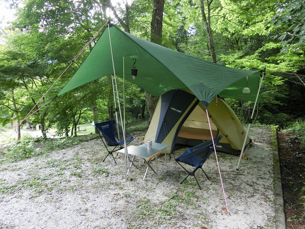 テントとタープを設営_20170819