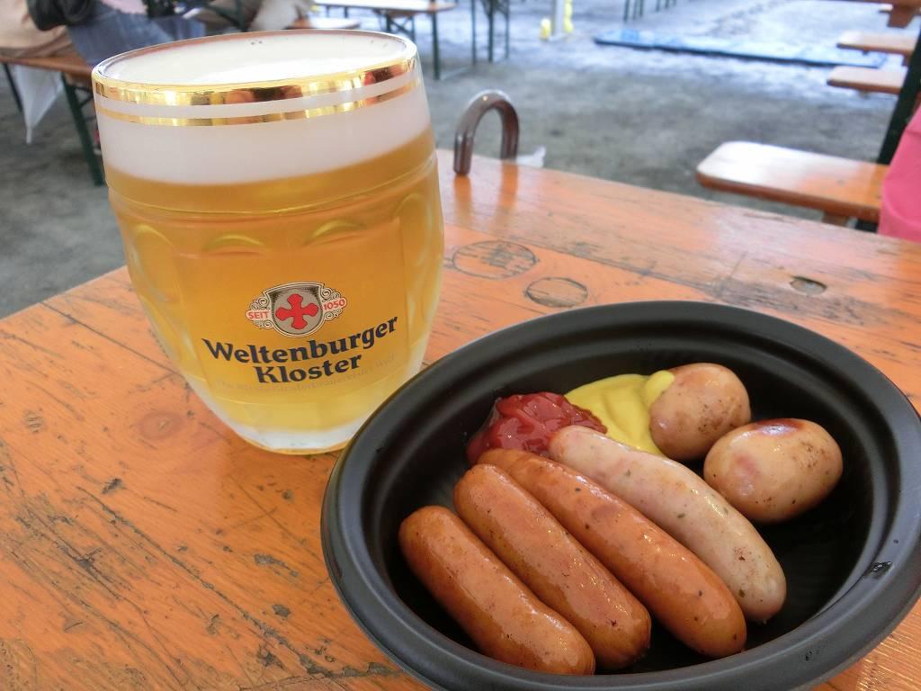 ドイツビールとウィンナーで乾杯_20170916