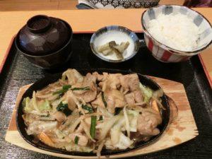 豚生姜焼き定食_850円_20170903