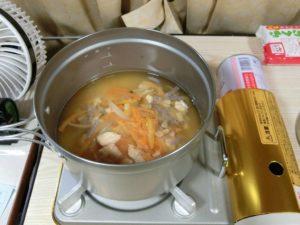 炊飯前の釜めし_171112