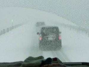 雪の道東道_171121