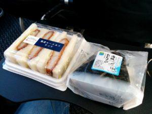 サンドイッチとおにぎり_171117