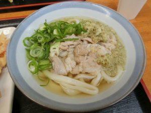 讃岐もち豚の肉うどん(小)(450円)_171202