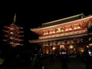 夜の浅草寺_171209