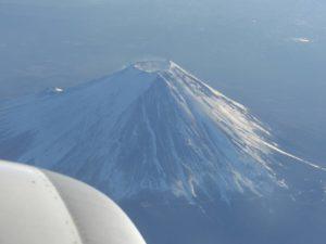 飛行機から見た富士山_171211