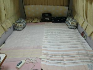 電気毛布を敷いて_171217