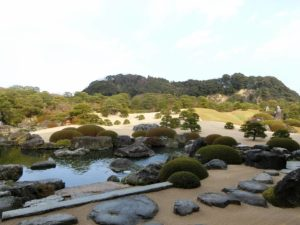 足立美術館の日本庭園_2_171223