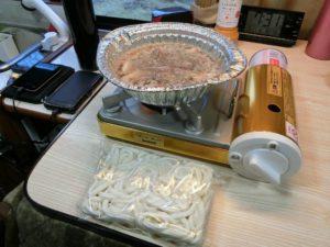 アルミ鍋と冷凍うどん_180311