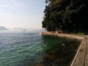 ホテル前の海岸_3_180304