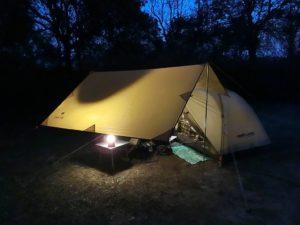 夜のテントとタープ_2_180324