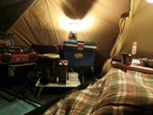 夜のテント前室_180324