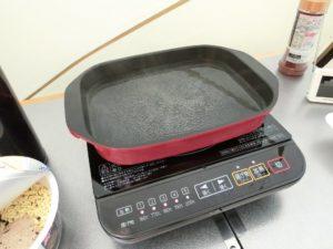 IH調理器でお湯を沸かす_180325