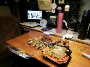 軽キャンで夕食_180427