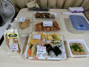 朝食の弁当と惣菜_180504