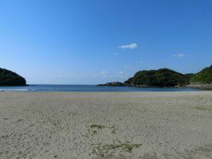 海の駅東陽町の前の砂浜_180504