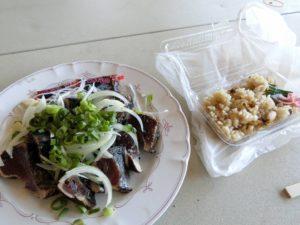 タタキと流れ子(トコブシ)炊き込みご飯_180504