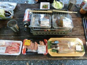 夕食BBQの食材_180504