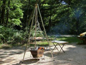焚き火台とトライポッドで調理_3_180616