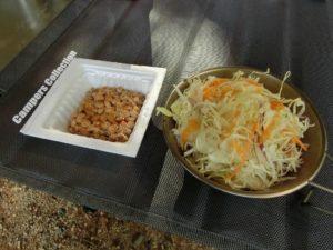 サラダと納豆_180617