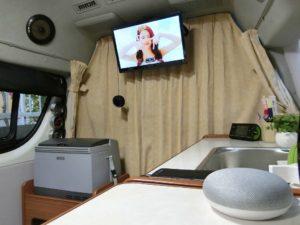 GoogleHomeMIniとテレビ_1_180623