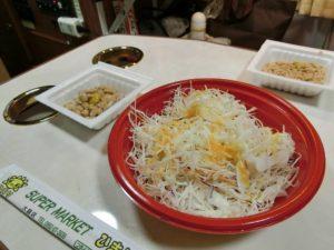 野菜サラダと納豆_180714