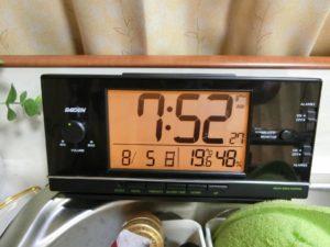 朝風呂上がりに19.6度_180805