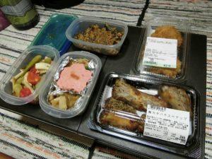 夕食の惣菜_180811