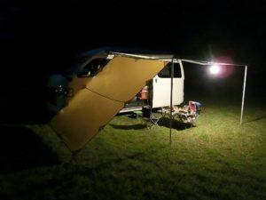 車中泊キャンプの夜_180923