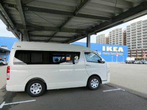 IKEAの駐車場とキャンピングカー_181007