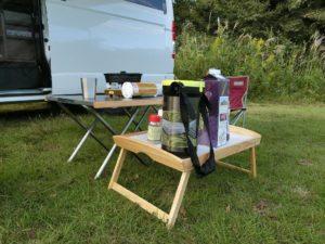 IKEAベッドトレイをキャンプに_181007