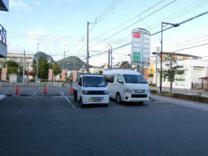 こがね製麺所の駐車場_181020