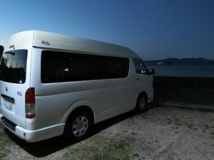 RVパークしまなみ海道大三島に到着_181020