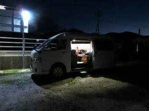 RVパークしまなみ海道大三島の夜_1_181020