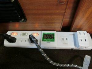 ワット数をテーブルタップで監視_181110