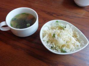 ランチのサラダとスープ_181103