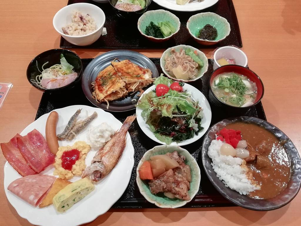 ホテル法華クラブ広島の朝食バイキング_1_181104