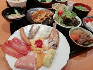 ホテル法華クラブ広島の朝食バイキング_2_181104