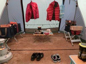 雨でもテント内は平気_181223
