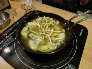 ちびパンで牡蠣のアヒージョ_181223