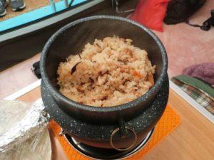 ストロングマーブル懐石釜めしで炊飯した釜めし_181223