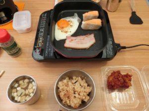 キャンプの朝食セット_181224