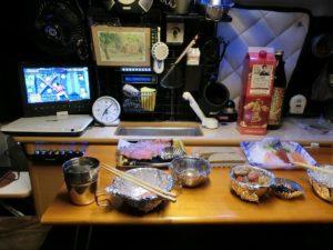 軽キャンKONGで夕食_190103