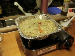 もつ鍋の残りにちゃんぽん麺_190106