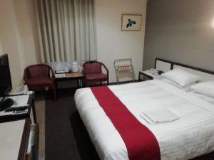 福岡サンパレスホテルにチェックイン_181219