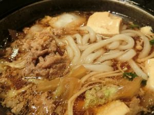 牛すき鍋にうどん_190113