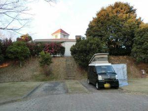 経ヶ丸オートキャンプ場に軽キャン_190113