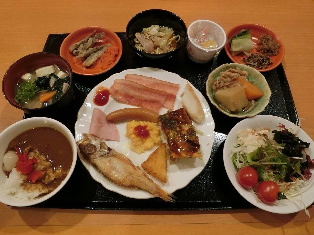 ホテル法華クラブ広島朝食バイキング_1_190203