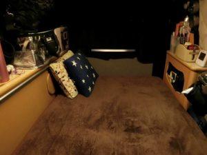 軽キャンのベッド_190208
