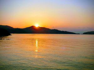 RVパークくらはしカープビーチの朝日_190217